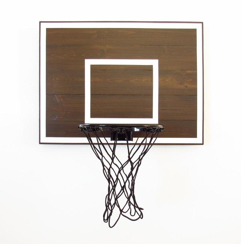 Merveilleux Modern Basketball Hoop For Bedroom Birthdays Players Men Boyfriends Kids  Espresso And White Mini Goal Sports Decor
