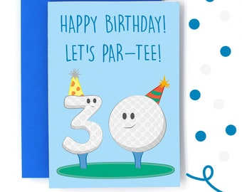 Golf Birthday Card