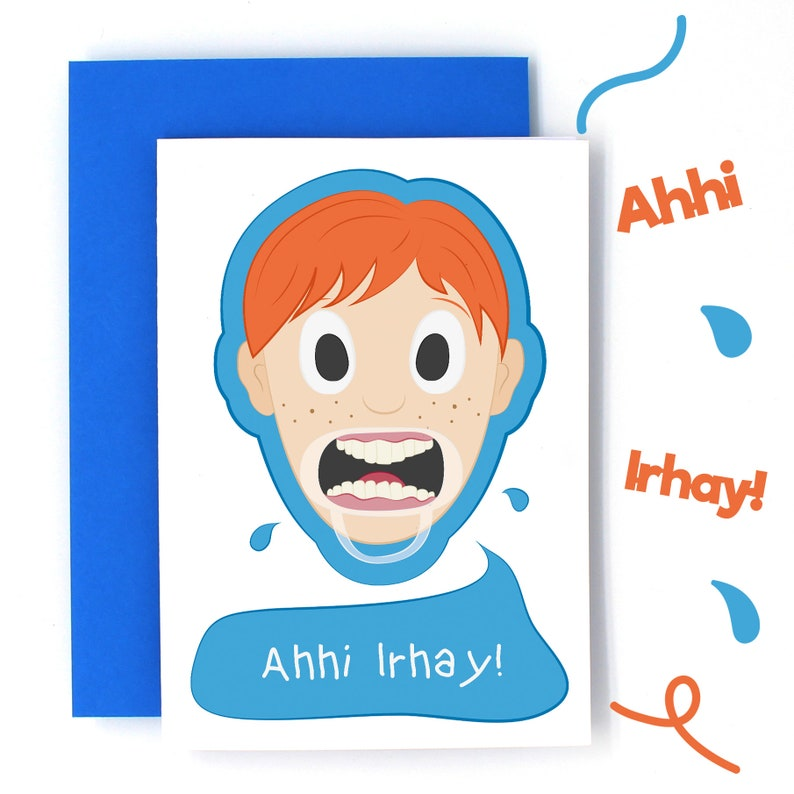 Funny Birthday Card Mouthful Game Speak Out Ginger