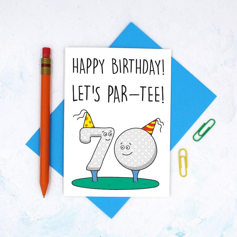 70th Birthday Golf Pun Card