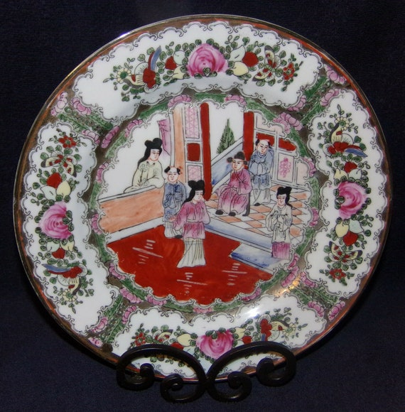 "5 1//2/"" Great old Chinese Famille Rose plate 1 of 7"