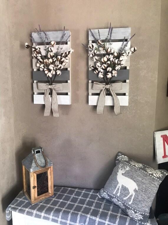 Home Decor Entryway Decor Wall Decor Pallet Decor Floral Cotton Gift Christmas
