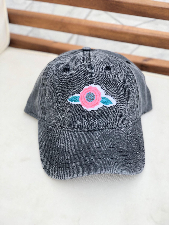 Flower Patch Hat Acid Wash Baseball Hat Summer Baseball  d08ca54a614