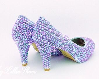 056012f4abc5 Bridal shoes Cadbury dark purple platform high heels