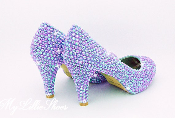Wedding Low Lilac Party of Shoes the ~ Girl Heels gift Sweet Bridal mothers Bride ~ 16 day Bling Shoes Bridesmaid Mother gift Evening qt5YAY