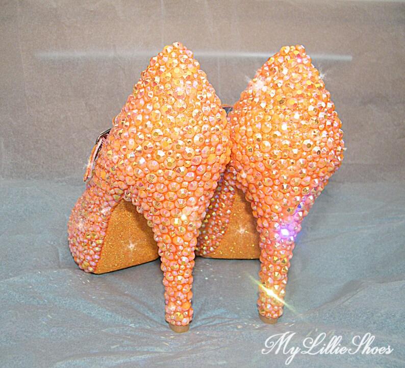 dcf5e4d6cd8 Bridesmaid Shoes Bright orange Mary Jane high heels