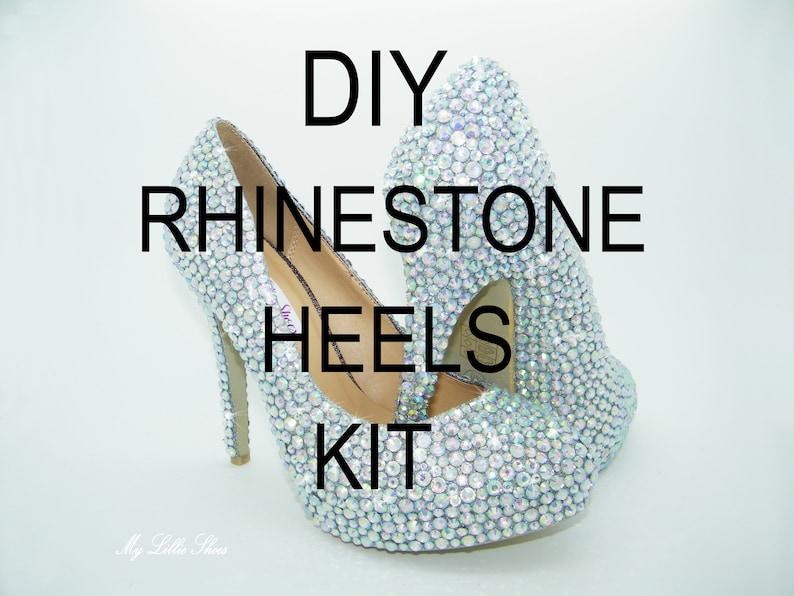 f32bd2123cfe12 DIY Wedding shoes Do it yourself rhinestone heels kit