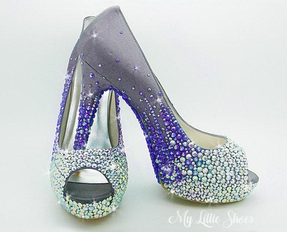 5ad11d729665 Bridal shoes Cadbury dark purple platform high heels