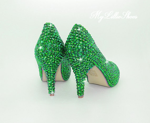 of ~ dark the low Wedding shoes Mother Prom Party Emerald Maid mid Shoes heels bride shoes green honor ~ Bridesmaid shoes Bridal of qRw5TtF