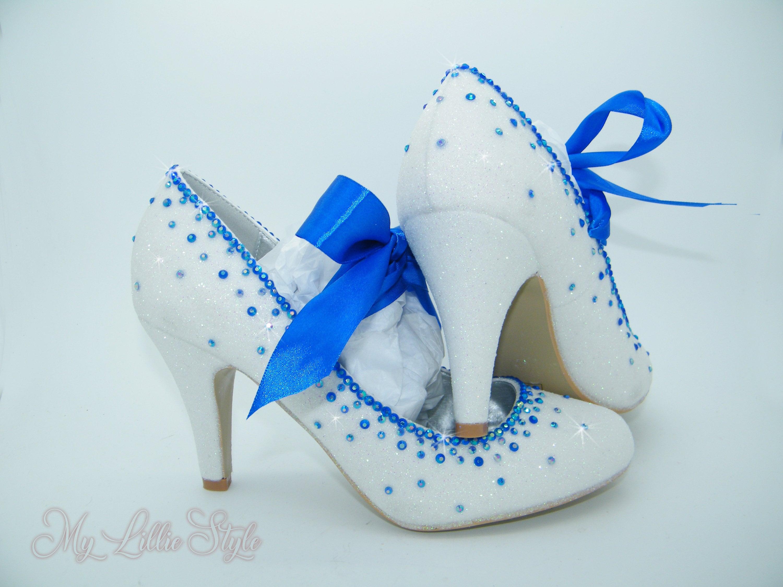 WOMENS NAVY DIAMANTE WEDDING BRIDE BRIDESMAID HIGH-HEEL PEEP-TOE SHOES UK 3-8