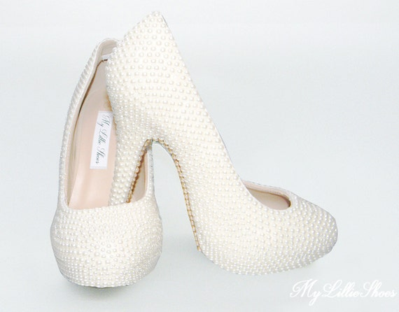 Sweet Heels 16 of Christening Wedding Graduation High Ivory ~ the Bride Mother Party Prom Pearl Bridesmaid Pageant Shoes ~ ISwzqxH