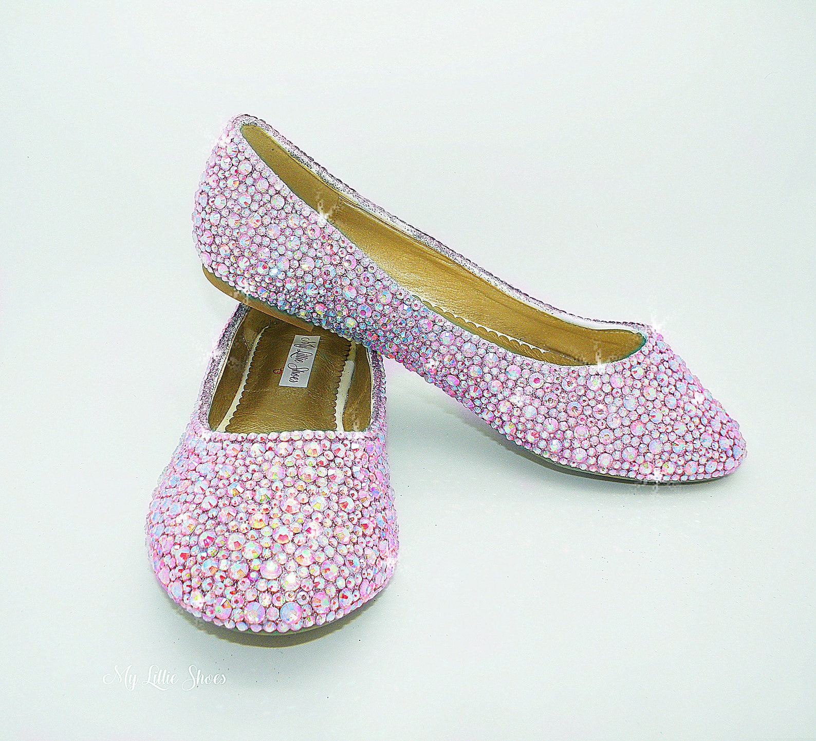 flat shoes ~ rhinestone light pink close toe flat ballet ~ wedding, bridesmaid, prom, junior prom, pageant, engagement, party, s