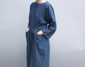 Minimalist denim dress