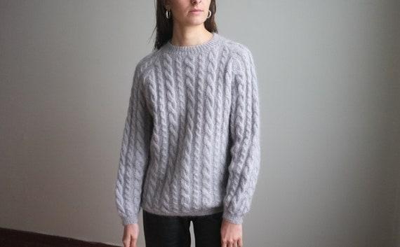Vintage Boho Vest Mohair Wool Hand Woven Handmade Womens Crop Top Multicolor Blue Lilac Purple
