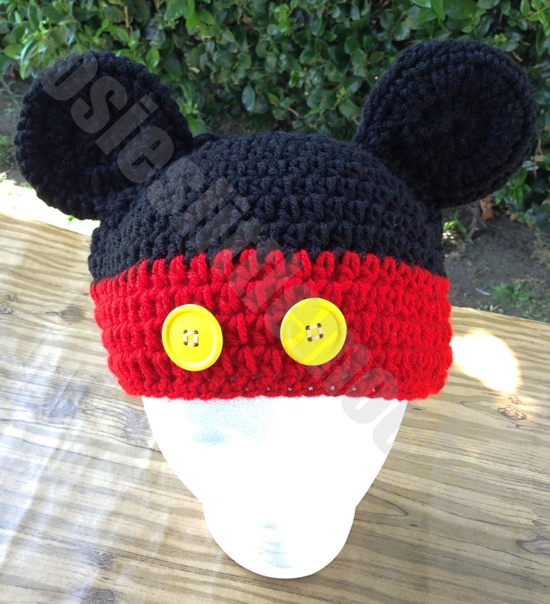 a1152f7bc880a Inspired Mickey Mouse Beanie   Mickey Mouse Hat   Classic