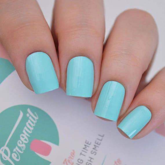 Aqua Tiffany Blue Nail Wraps | Etsy