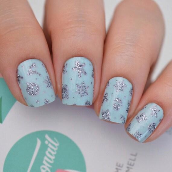 Silent Night Christmas Tiffany Blue Polish Wraps | Etsy