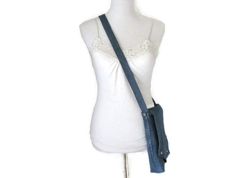Handmade Denim Purse Denim Purse Denim Messenger Bag Crossbody Messenger Bag Jean Messenger Bag Upcycled Denim Jeans Lined Denim Purse