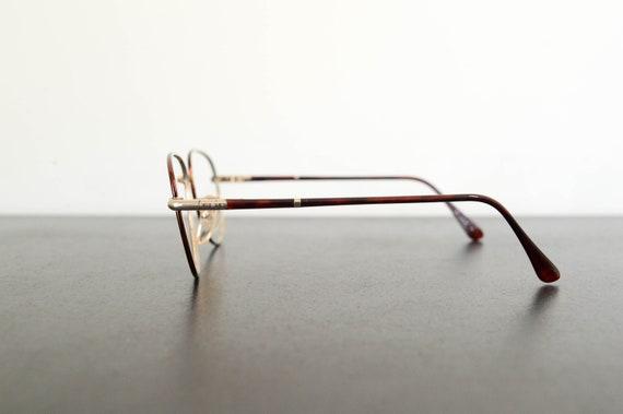 89590867ce0 vintage unused brown tortoiseshell thin aviator eyeglasses