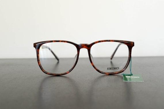 size 54-19-145 LE3622BL 90s vintage SEIKO THE LEAGUE black college style frame eyeglasses