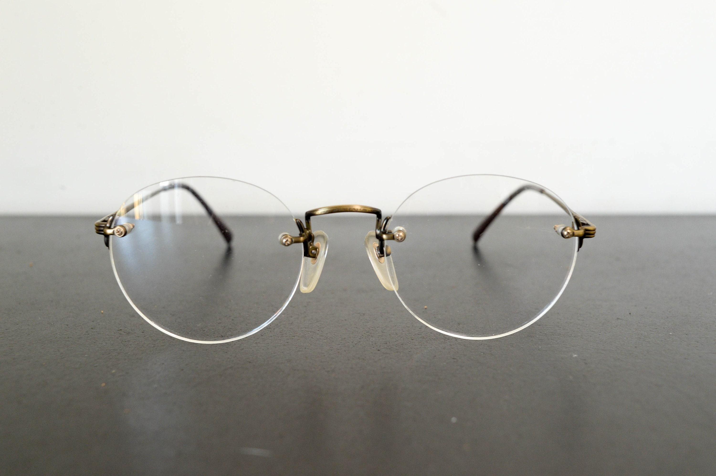 225549b6e8b 80s vintage SEIKO DINGO unused rimless glasses size