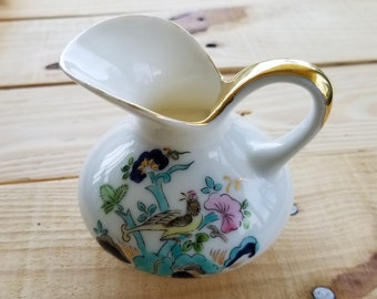 Vintage Japanese Hand Painted Porcelain Creamer or Milk Pitcher Hand Made painted