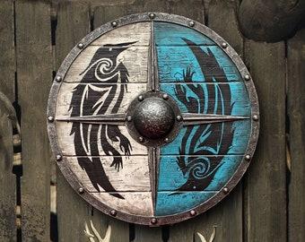 Eivor Valhalla Raven Authentic Battleworn Viking Shield