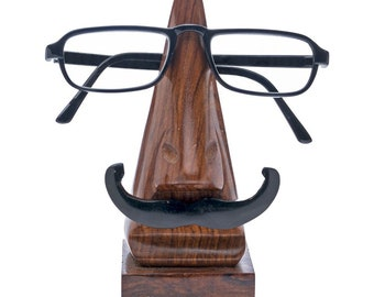 0a94a84adc0 Handmade Wooden Funny Mustache Glasses Eyeglasses Holder Stand