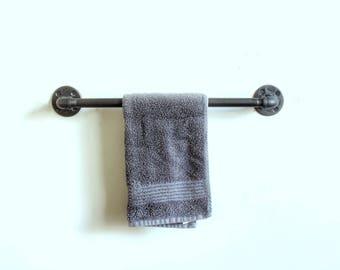towel holder. Towel Bar \u2022 Industrial Towel Rack Bathroom Accessories  Pipe Hand Bath Holder