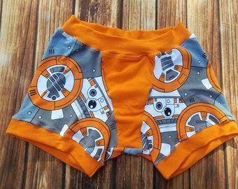 1f78bcc5a04c Women's Boxer Briefs, Star Wars Inspired, BB8 Underwear, Custom, XS S M L  XL XXL Cotton Stretch Knit, Panties, Panty