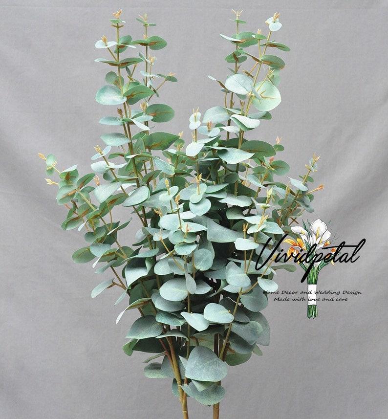 Dusty Green Seeded Eucalyptus Artificial Eucalyptus Leaves Greenery Centerpieces
