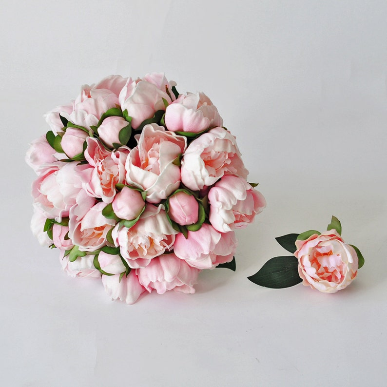 romantic bridesmaid bouquets Real Touch Pink Peony Bridal Bouquet Artificial Peony Flower Bouquet bridal bouquets