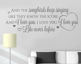 And The Songbirds Lyrics - Eva Cassidy Wall Sticker Decal Art