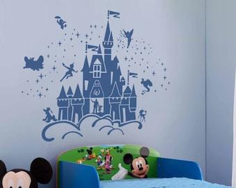 Disney castle wall decal | Etsy
