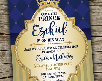 Prince baby shower invitation etsy prince baby shower invitation royal celebration invitation royal baby shower boy baby shower invitation prince invite prince babyshower filmwisefo