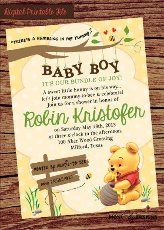 Winnie the pooh baby shower invitation winnie pooh invite etsy image 0 filmwisefo