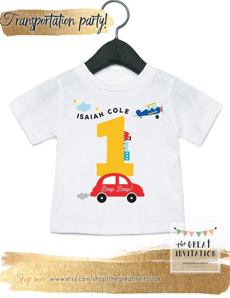 Toddler Onesie Planes Trains Automobiles Cars Theme Onesie Planes Trains Cars Birthday Birthday Onesie Transportation Birthday Party