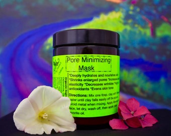 Organic Pore Minimizing Mask- Vegan skincare, high in vitamins, minerals and naturally occurring silica.