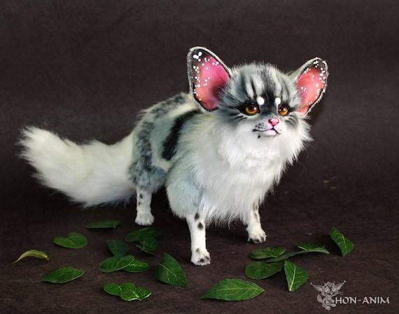 Fantasy Gray Fox Soft Toy Stuffed Animal Toys Handmade Etsy