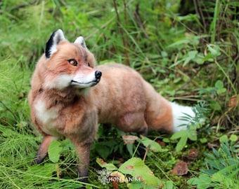 Red Fox, soft toy, stuffed animal, toys handmade