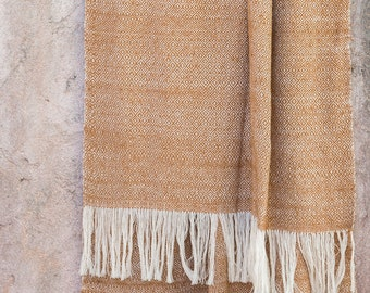 Dye Free Tai Dam Handwoven Cotton Shawl - Yehn Cotton Scarf