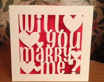 Papercut - Personalised Will You Marry Me? Card