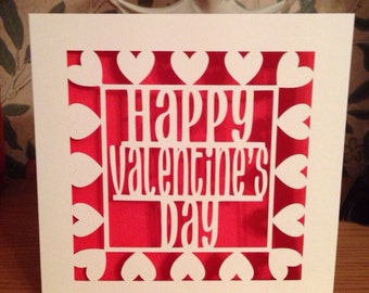 Valentine's Day Card - Papercut - St Valentine's Day Husband - Wife - Girfriend - Boyfriend - Partner - Gay - Lesbian - For Him - For Her