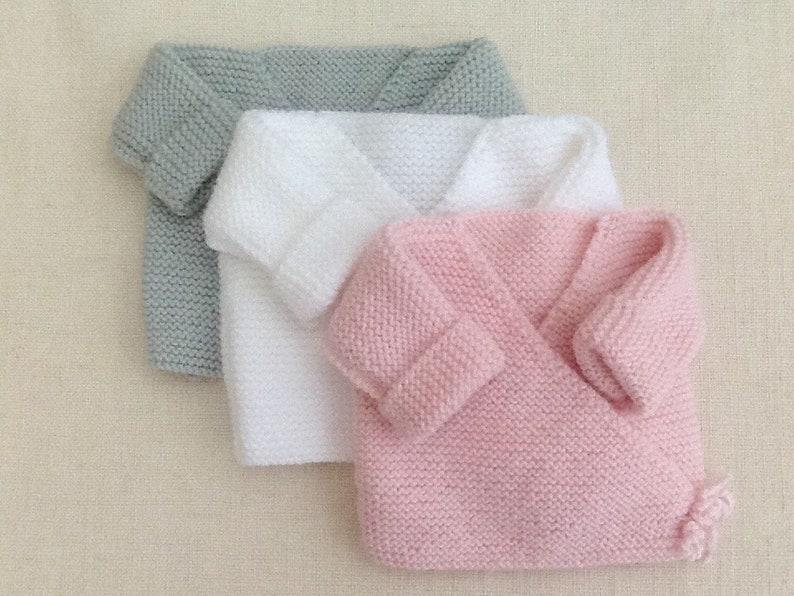 517758061403f Brassière bébé gilet bébé cache-coeur tricot laine