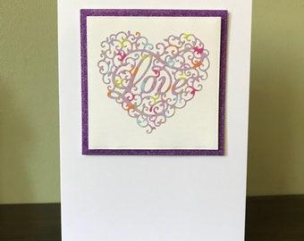 Handmade Paper Craft Love Card