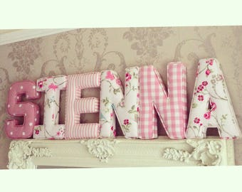 Fabric Padded Letter, PRICE PER LETTER, Initial, Nursery Room Decor, Personalised Baby Gift, Baby Shower, Christening, baby gift, Baptism