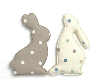 Fabric Padded Rabbit Hare, Nursery Room Decor, Baby Shower, Christening, 1st Birthday, Baptism, Maternity Leave, Easter, hare