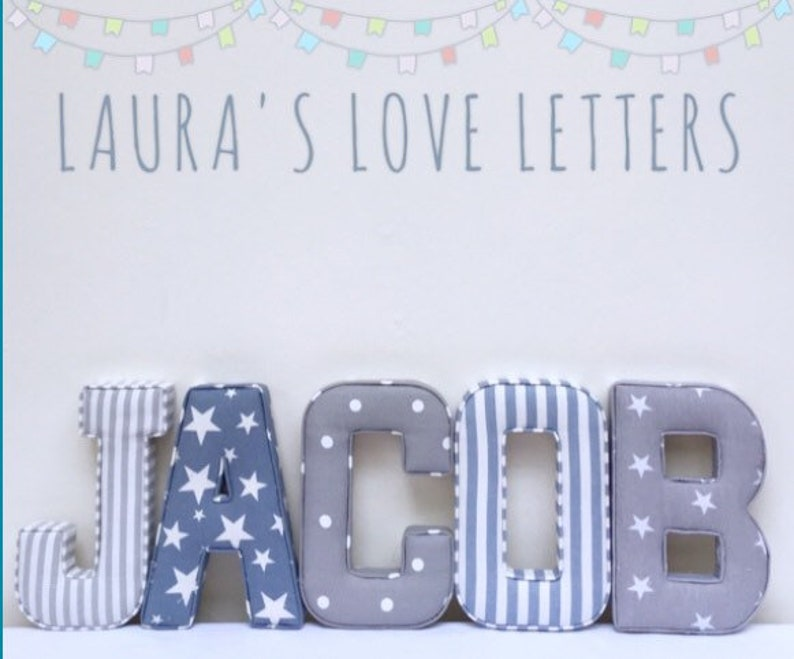 Baby geschenk mit initialen