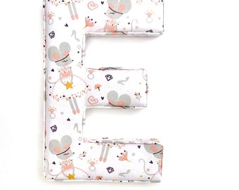 Fabric Letters, PRICE PER LETTER, Initial, Nursery Room Decor, Personalised Name Gift, Baby Shower, Christening, baby gift, Babygift