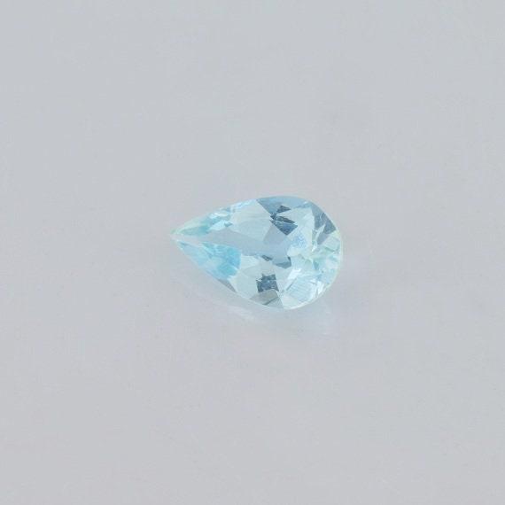 0,59 cts aigue-marine bleue naturelle 8x5 mm mm mm à facettes poire pierre précieuse en vrac, pierre naturelle bleue véritable en aigue-marine 9ed865